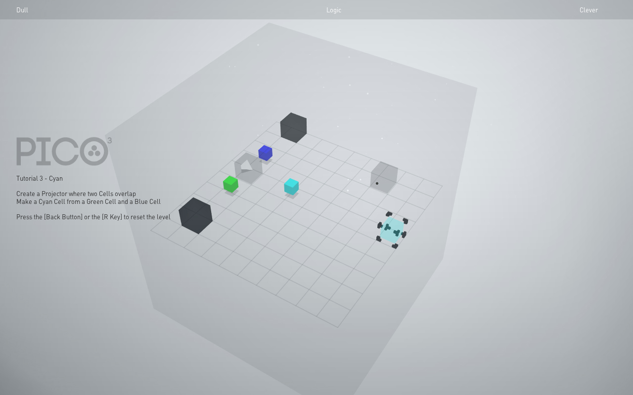 Pico3 is a colour-based 3D puzzler. picture