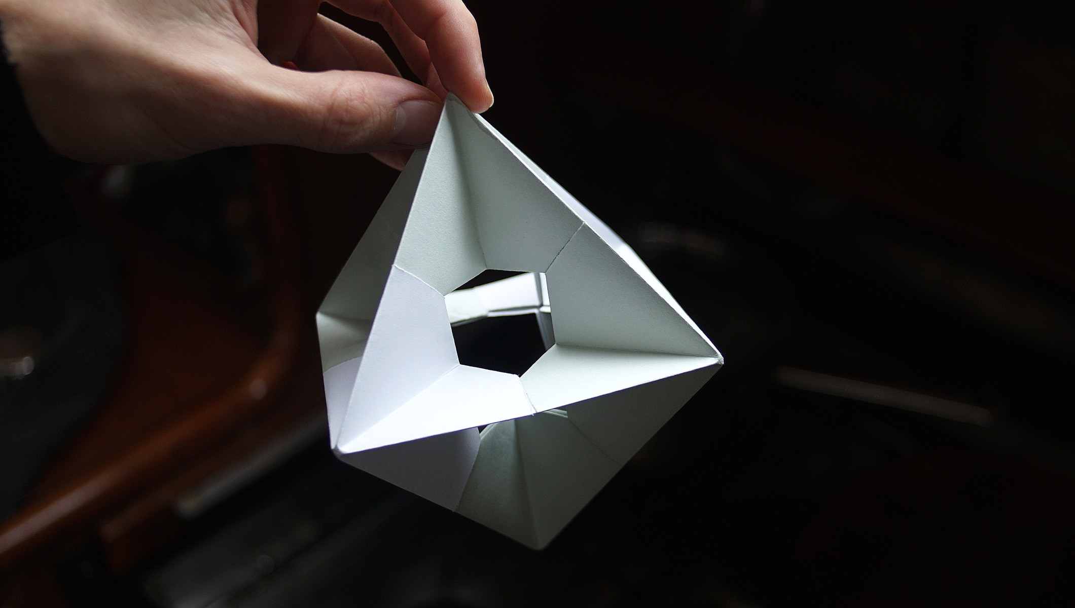 Origami is the art of paperfolding. picture