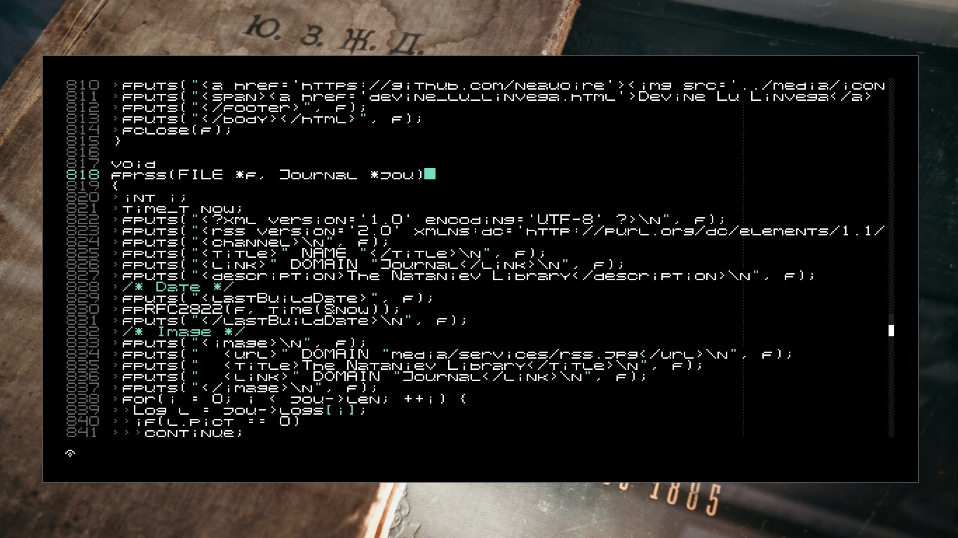 Left is a text editor. picture