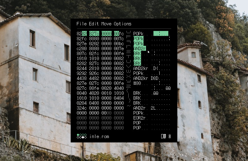Exed is a hex editor. picture